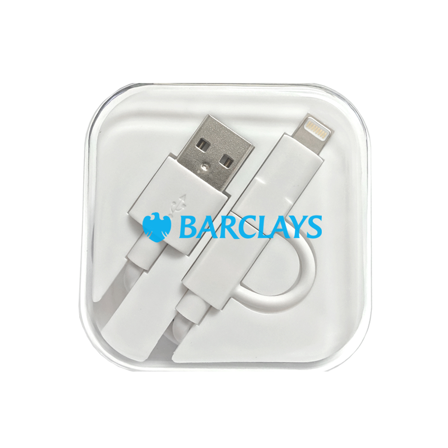 MFI Certified Lightning Tip + Micro USB Cable in Clear Case