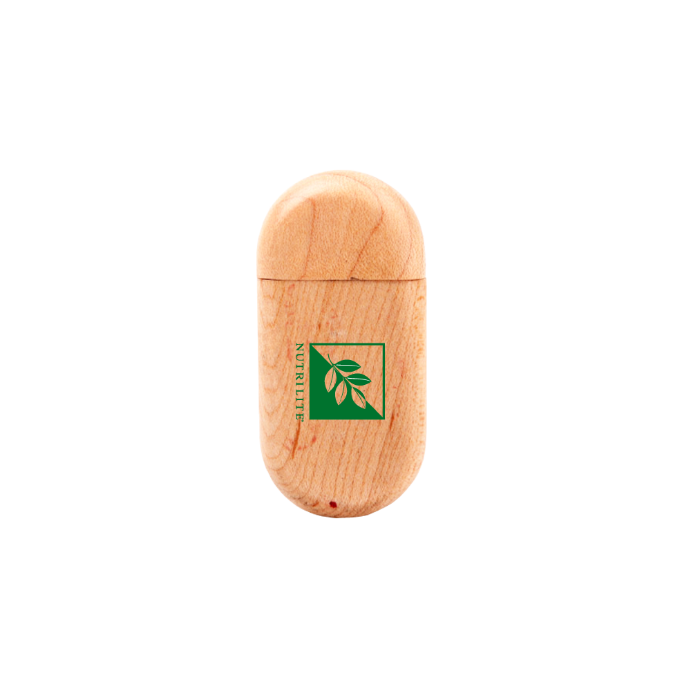 Bamboo Eco-Friendly Rounded USB Drive