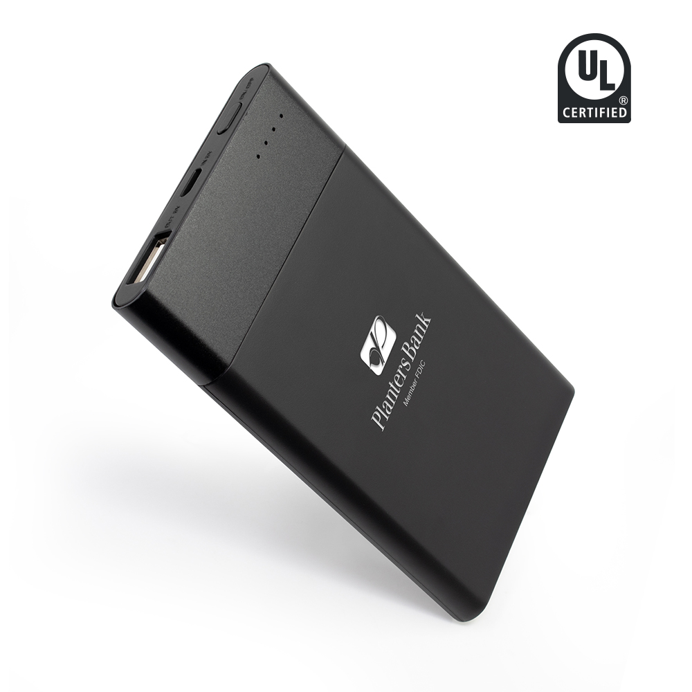 Showtime - 4,000 mAh UL Certified Power Bank - Black