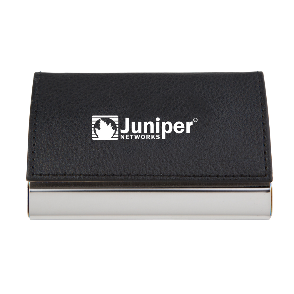 Textured Leatherette Business Card Case