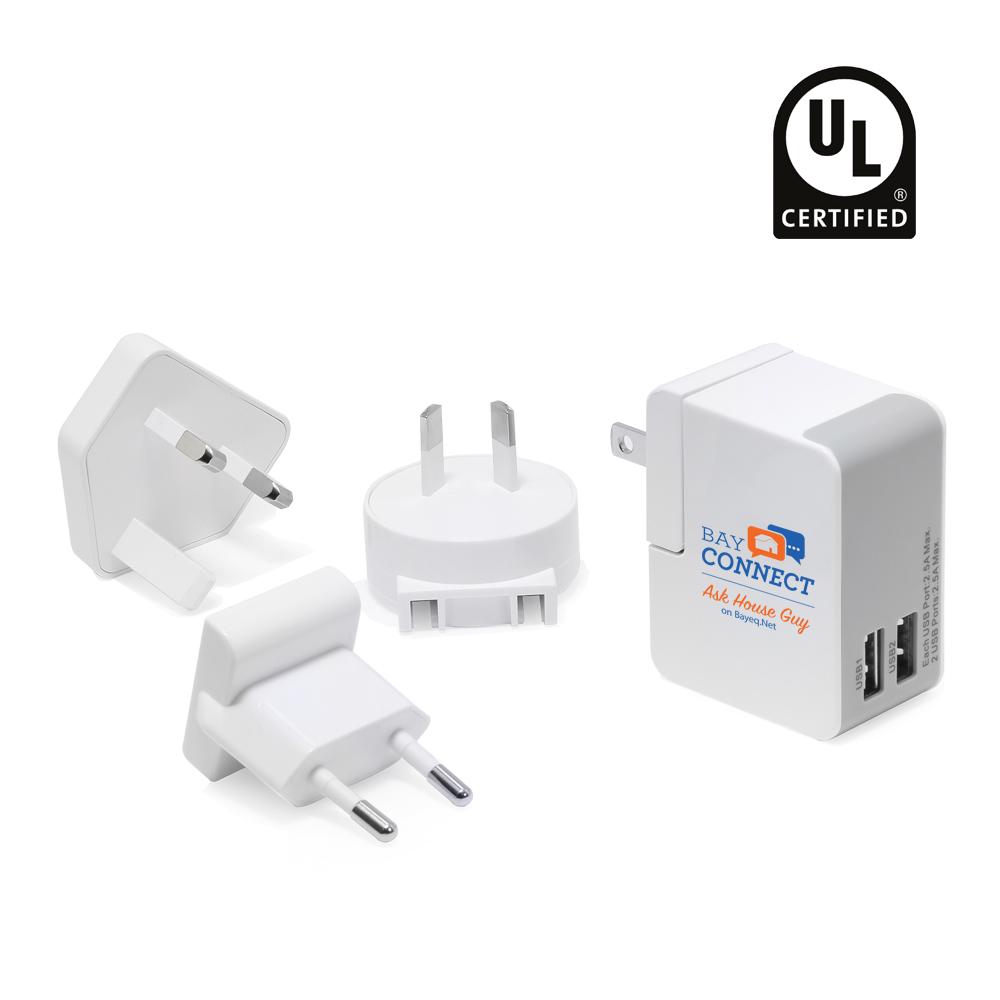UL Certified 2-Port Universal Adapter