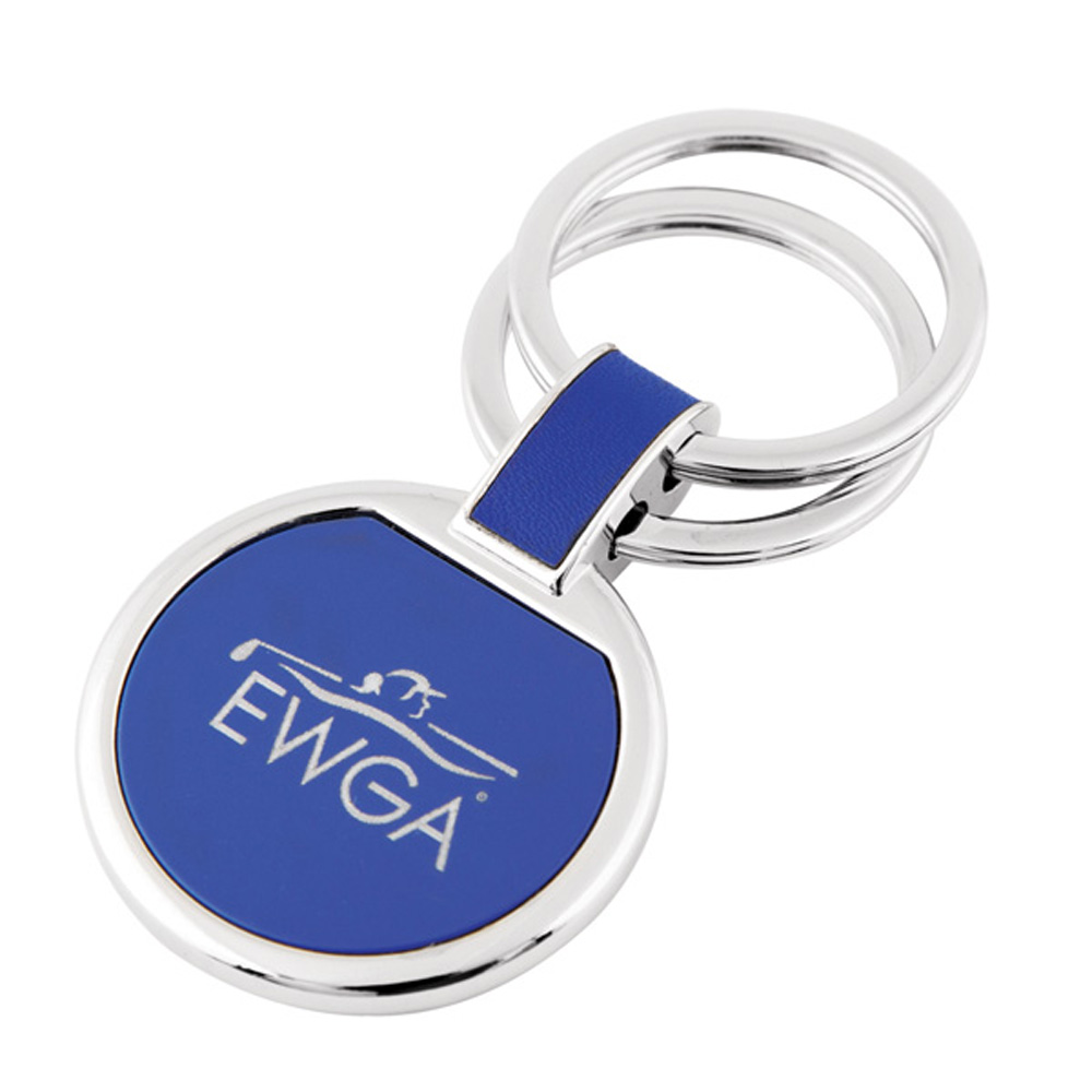 Colored circular key chain.