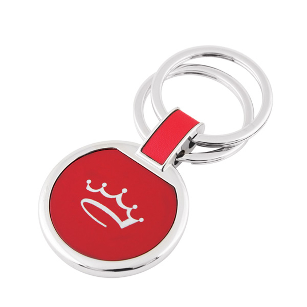 Colored circular key chain.